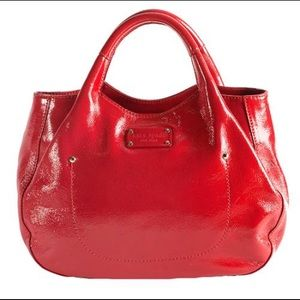 KATE SPADE 34TH STREET TREESH RED PATENT LEATHER